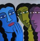 DVS Krishna-Gossip Girls -Monart Gallerie Indian Art Gallery